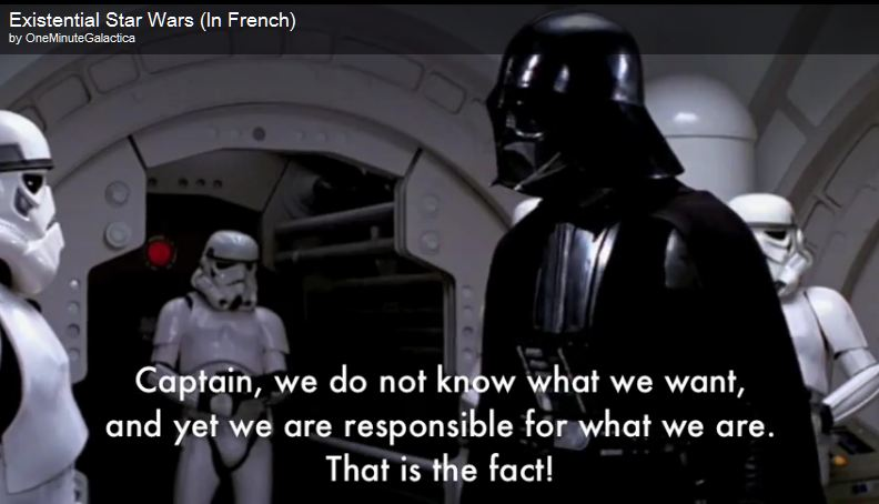 The Existential Star Wars: Sartre Meets Darth Vader