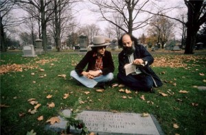 Bob-Dylan-and-Allen-Ginsberg-at-Jack-Kerouacs-Grave