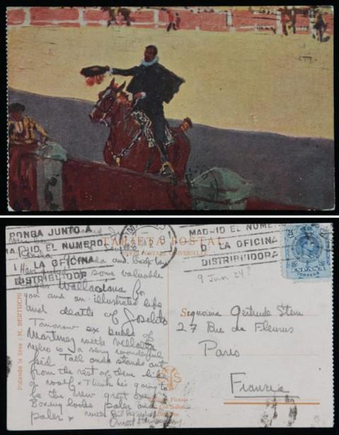 Ernest Hemingway Postcard