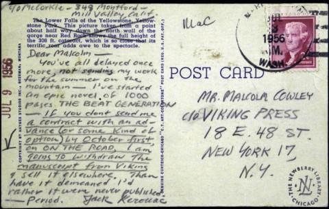 Jack Kerouac Postcard