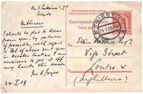 James Joyce Postcard